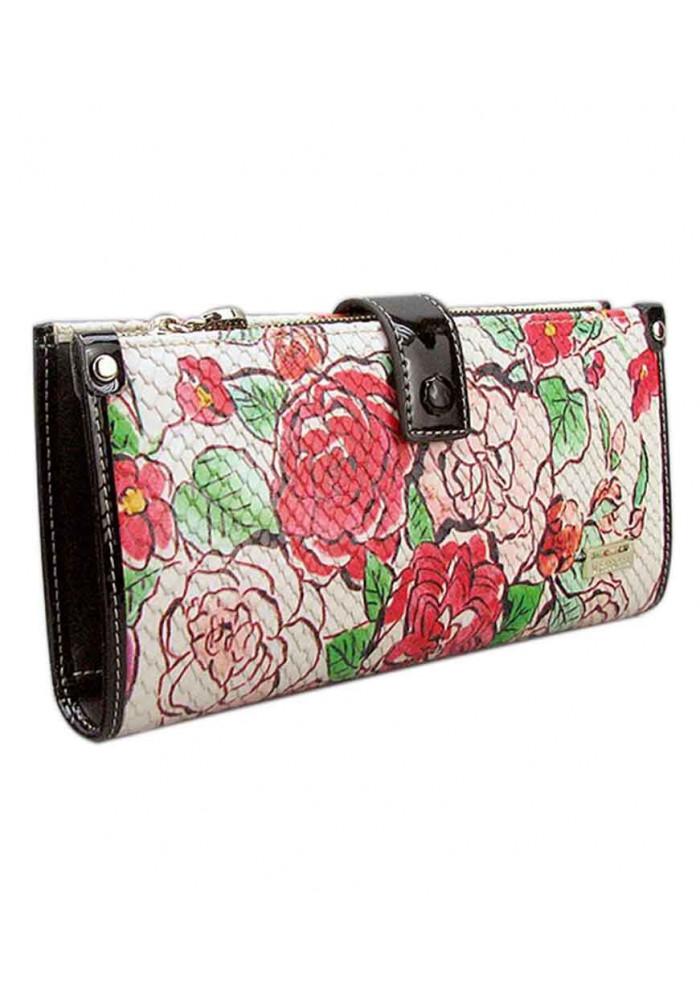 Фото Кожаный женский кошелек с цветами VF 68600