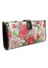 Кожаный женский кошелек с цветами VF 68600