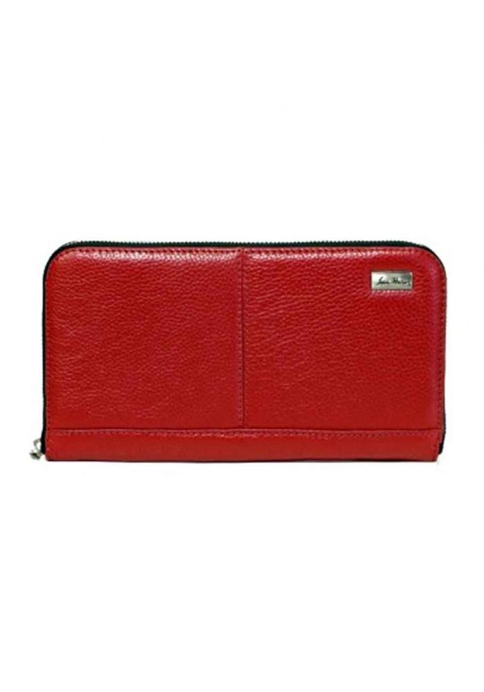 Клатч кожаный серии GO-AHEAD ISSA HARA красный