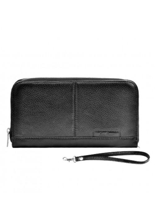 Удобный клатч кожаный серии GO-AHEAD ISSA HARA черный