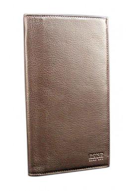 Фото Кожаный купюрник Bond 576-286 коричневый