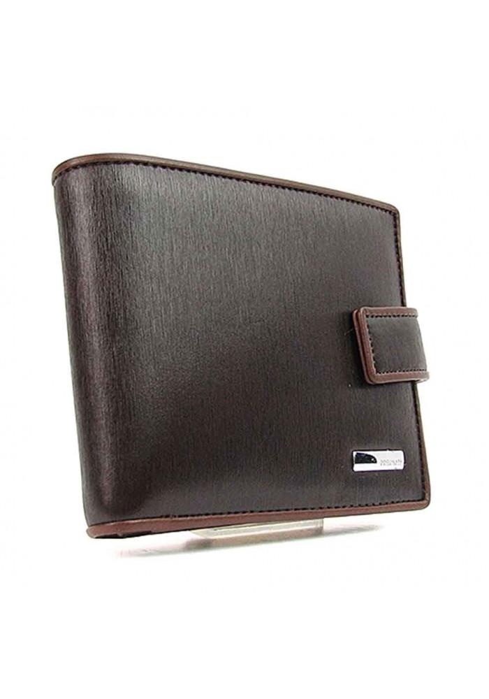 Кожаный мужской кошелек PRNT 8738 коричневый