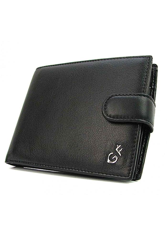 Черный кожаный мужской кошелек GF 63