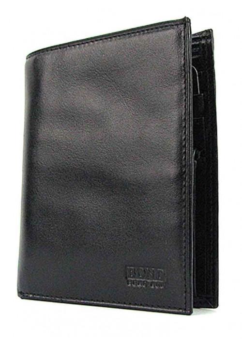 Вертикальный кожаный мужской кошелек Bond 525