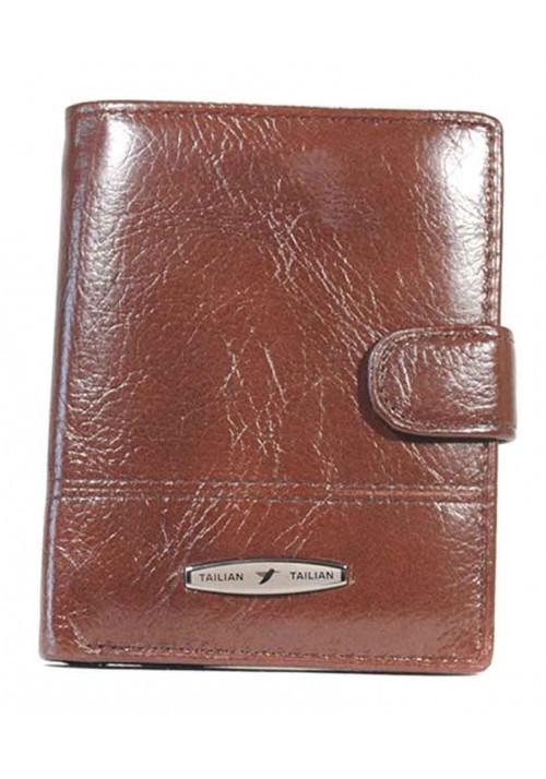 Мужской кошелек кожаный Tailan коричневого цвета - Мужские кошельки фото