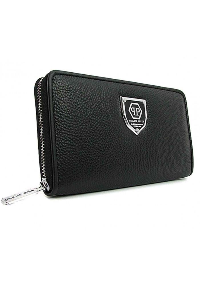 Кожаный кошелек-клатч на молнии PP 2028