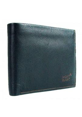 Фото Синий кожаный мужской кошелек MB 1708