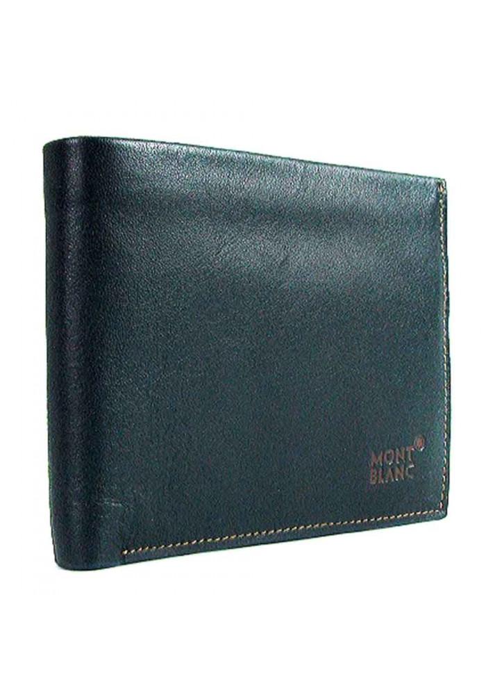 Синий кожаный мужской кошелек MB 1708
