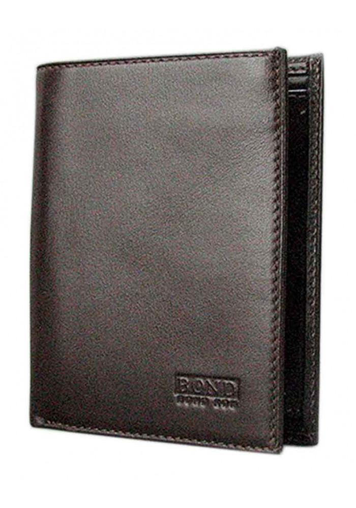 Коричневый кожаный мужской кошелек Bond 599