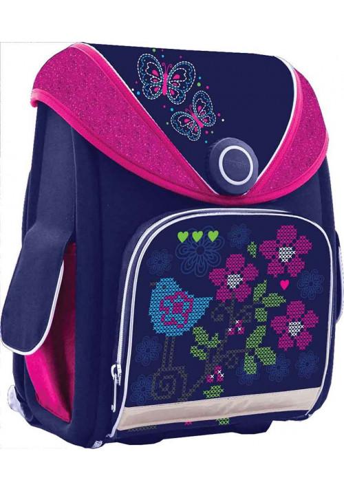 Синий ранец-короб для школы YES Н-15 Bird