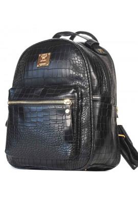 Фото Черный молодежный женский рюкзачок CROCO