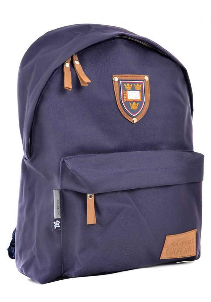 Темно-синий подростковый рюкзак YES Oxford Street OX-15 Steel blue