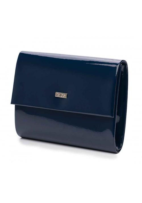 Женский лаковый клатч Felice F14 синий