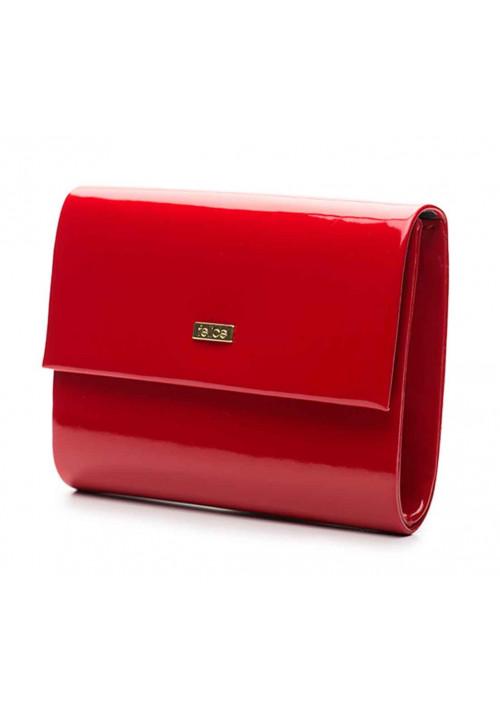 Женский лаковый клатч Felice F14 красный