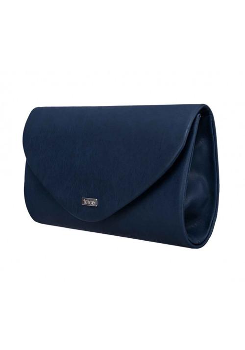 Женский матовый клатч Felice F15 темно-синий