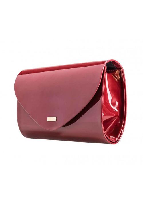 Женский клатч из лаковой экокожи Felice F15 бордовый