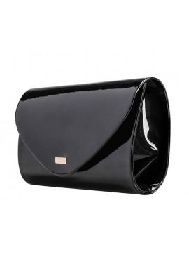 Фото Женский клатч из лаковой экокожи Felice F15 черный