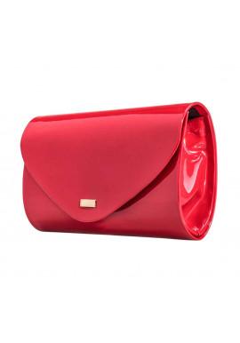 Фото Женский клатч из лаковой экокожи Felice F15 красный