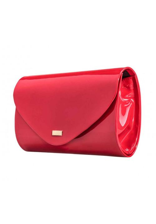 Женский клатч из лаковой экокожи Felice F15 красный