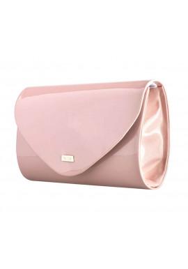 Фото Женский клатч из лаковой экокожи Felice F15 розовый