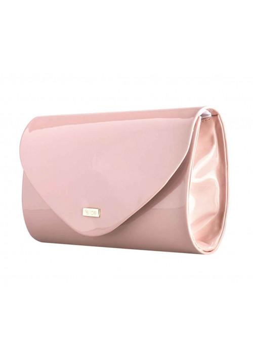 Женский клатч из лаковой экокожи Felice F15 розовый