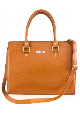Фото Женская кожаная сумка Felice Gatto Camel