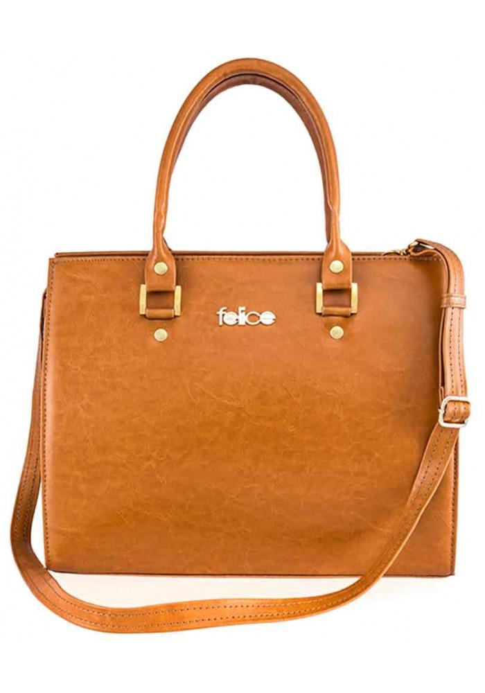 Женская кожаная сумка Felice Gatto Camel