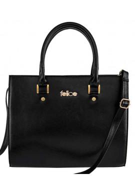 Фото Женская кожаная сумка Felice Gatto Black Matte