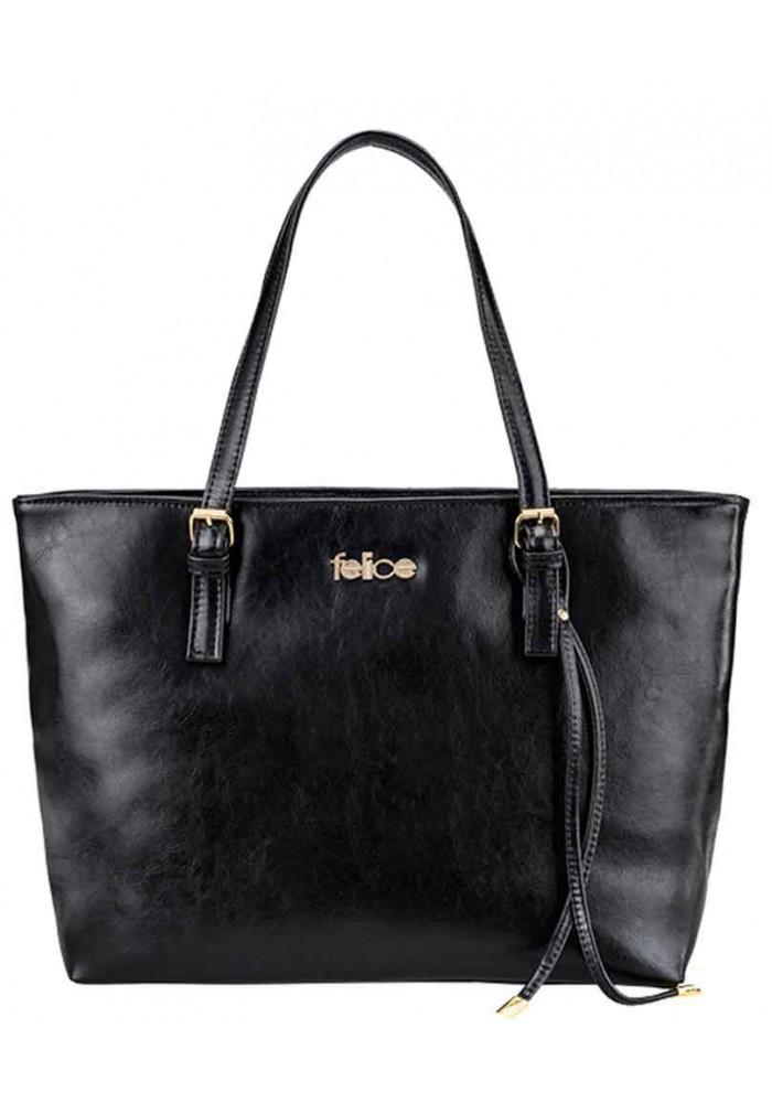 Женская кожаная сумка Felice Gatto Black Matte