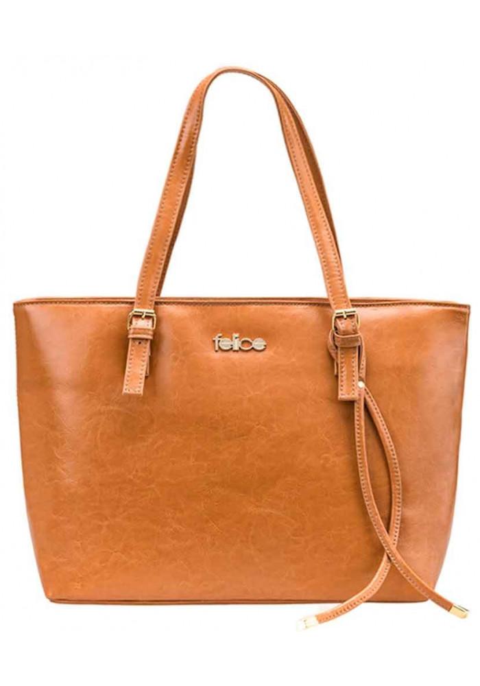 Женская кожаная сумка Felice Luna Camel