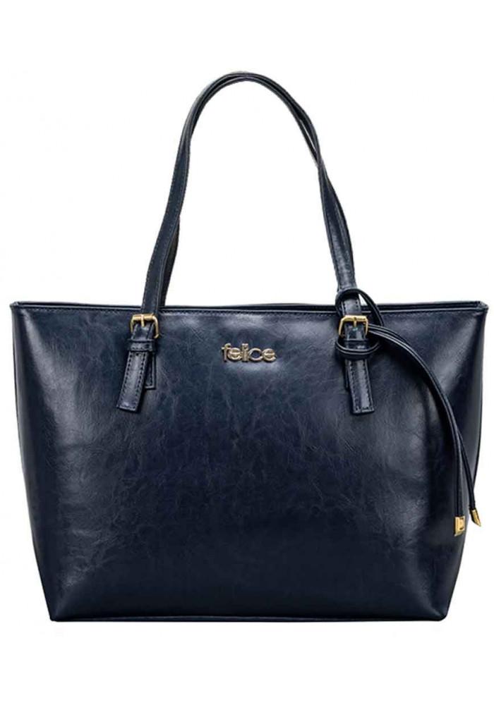 Женская кожаная сумка Felice Luna Blue