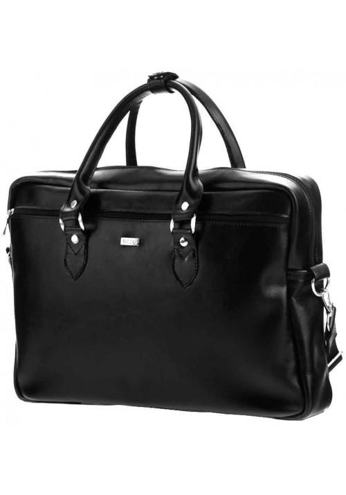 Кожаная сумка для ноутбука Felice Black