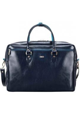 Фото Кожаная сумка для ноутбука Felice Blue