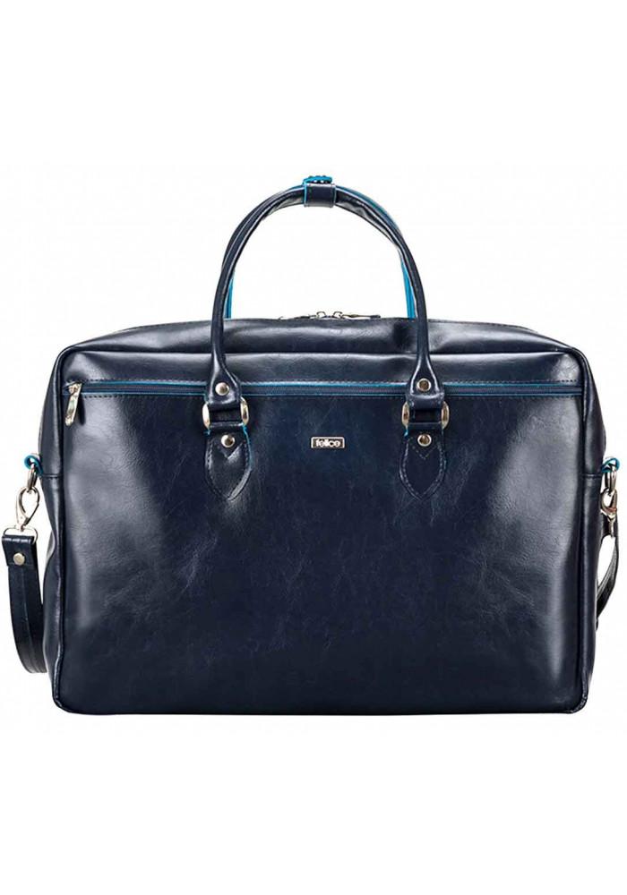 Кожаная сумка для ноутбука Felice Blue