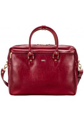 Фото Кожаная сумка для ноутбука Felice Maroon