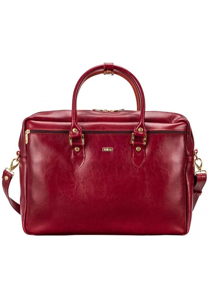 Кожаная сумка для ноутбука Felice Maroon