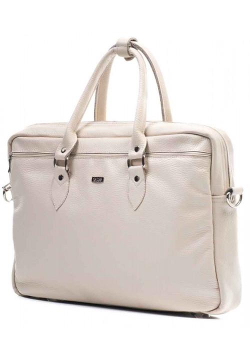 Кожаная сумка для ноутбука Felice Beige