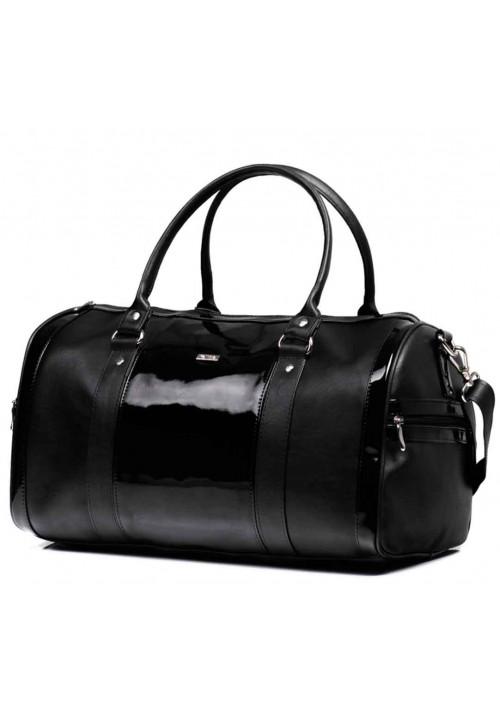 Дорожная сумка с лаковой вставкой Nana Black Varnish