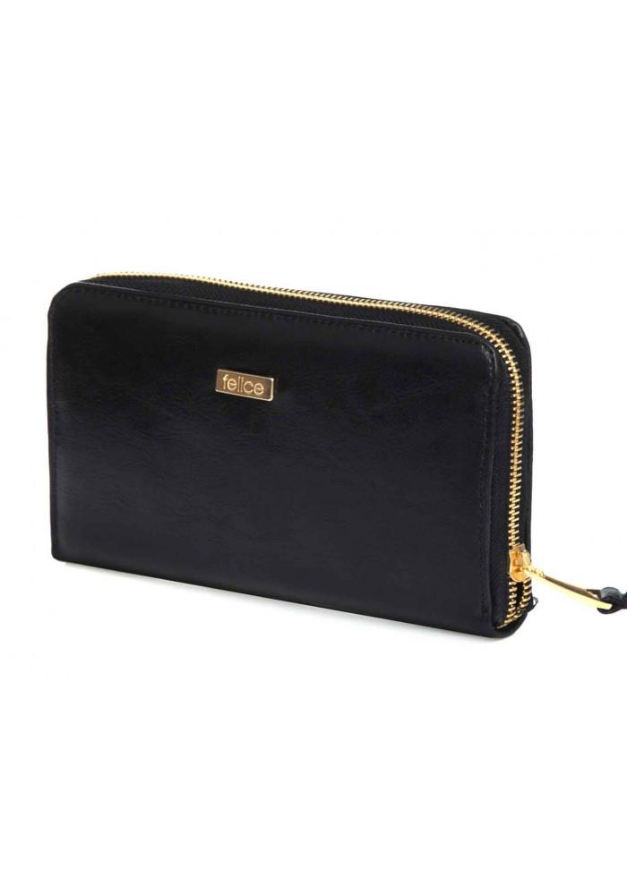 Кожаный женский кошелек Felice P01 Black