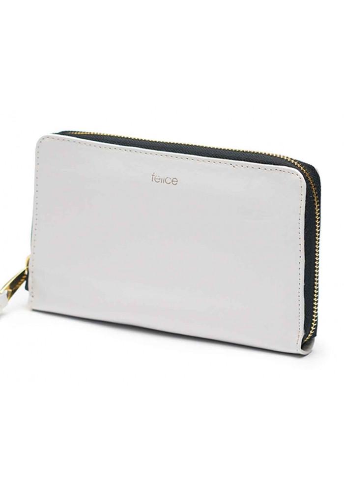 Кожаный женский кошелек Felice P01 Grey
