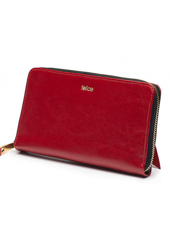 Кожаный женский кошелек Felice P01 Red