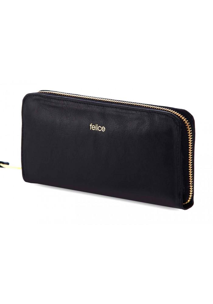 Кожаный женский кошелек Felice P02 Black