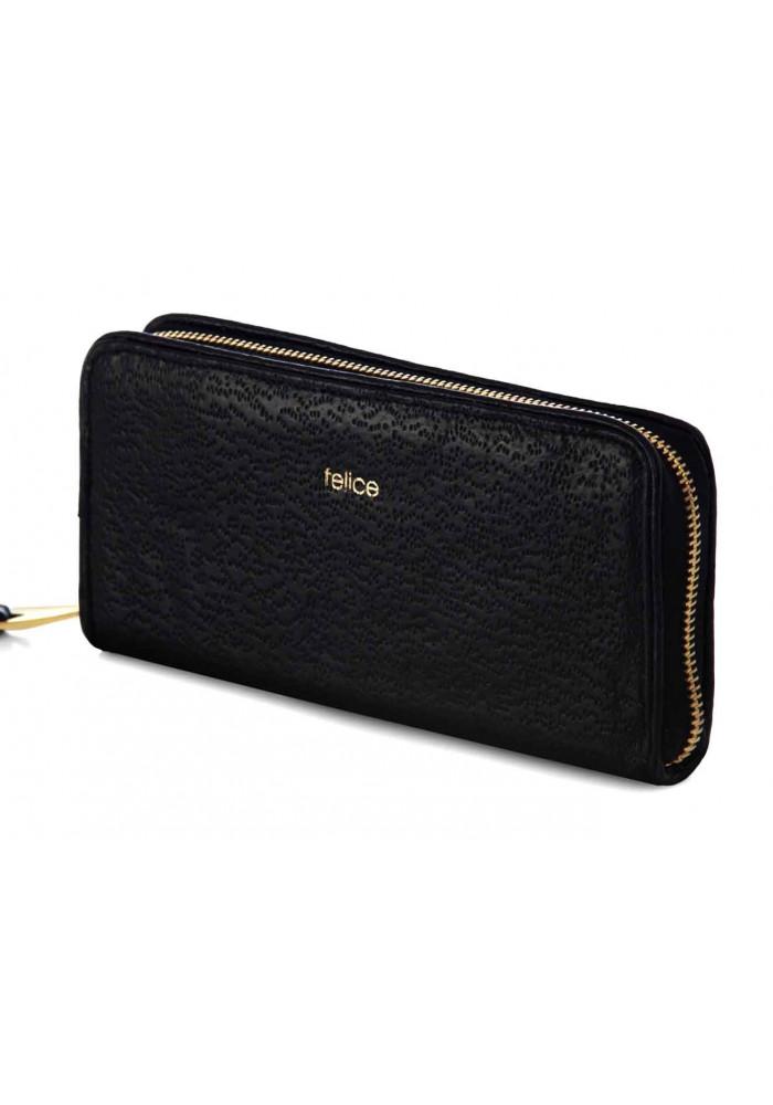 Кожаный женский кошелек Felice P02 Black Vintage