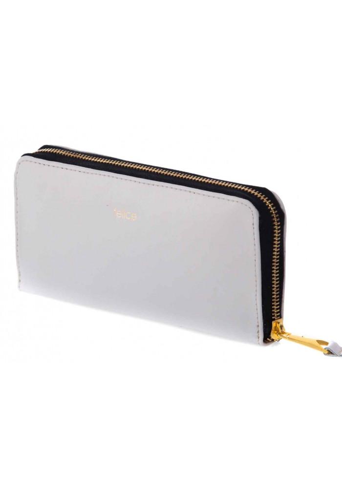 Кожаный женский кошелек Felice P02 Grey