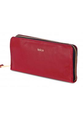Фото Кожаный женский кошелек Felice P02 Red