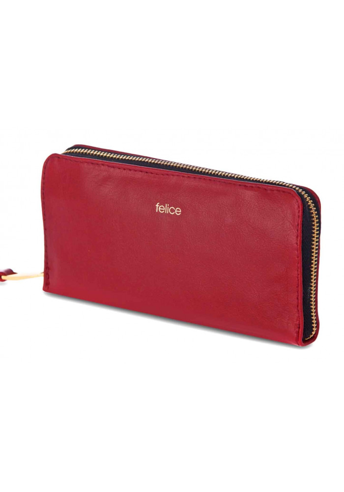 Кожаный женский кошелек Felice P02 Red