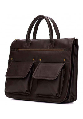 Фото Модный мужской портфель Solier S24 Dark Brown