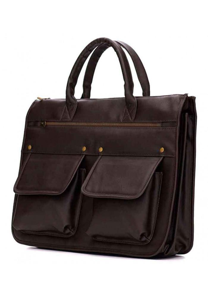 Модный мужской портфель Solier S24 Dark Brown