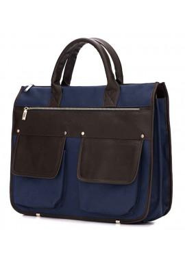 Фото Современный мужской портфель Solier S24 Blue Brown