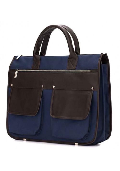 Современный мужской портфель Solier S24 Blue Brown